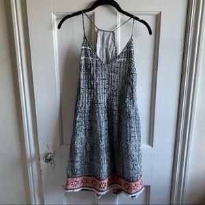 Joie Boho Pleated Embroidered Sun Dress